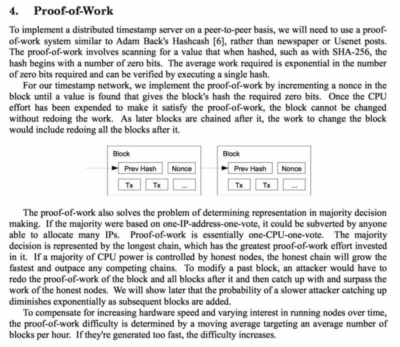 Excerpt from BTC whitepaper